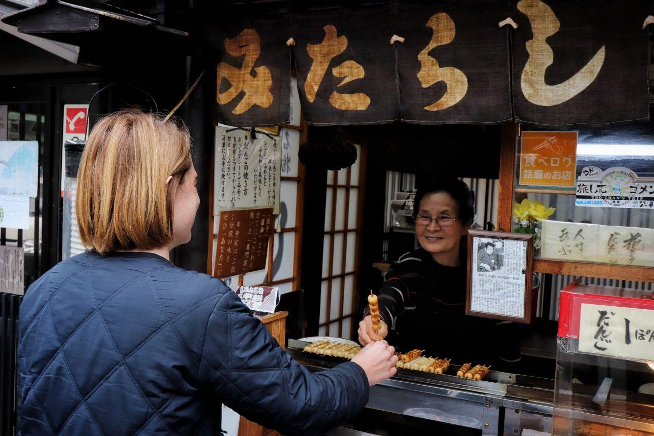 Street food in Takayama